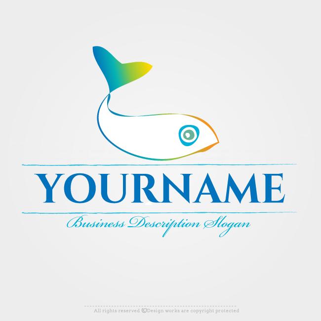Online Logo Creator Design Fish Template