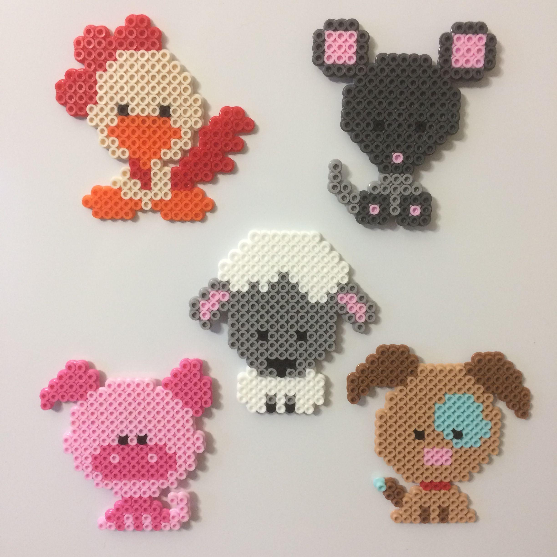 cdce6e041d9c4 Hama pearl animals | creative crafts | Diy perler beads, Hama beads ...