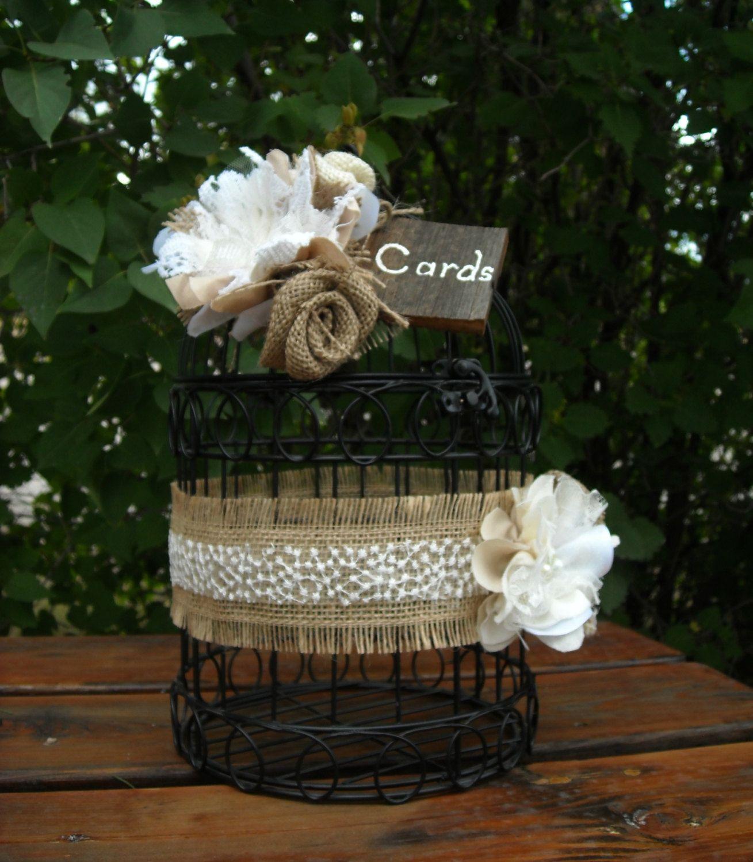 rustic bird cage card holder wedding birdcage card holder