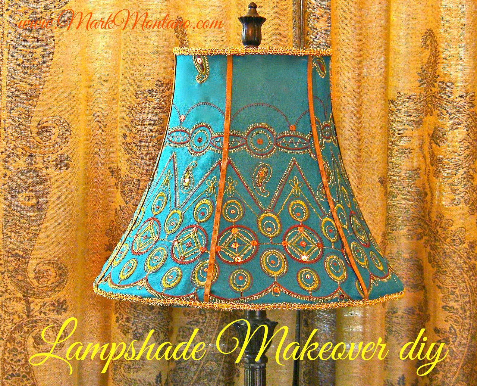 Cover a fancy lampshade with just a glue gun and 1 yard of fabric are beat up old lampshades constantly catching your eye at thrift stores and flea markets rescue and revive those metal framed finds with this lampshade mozeypictures Gallery