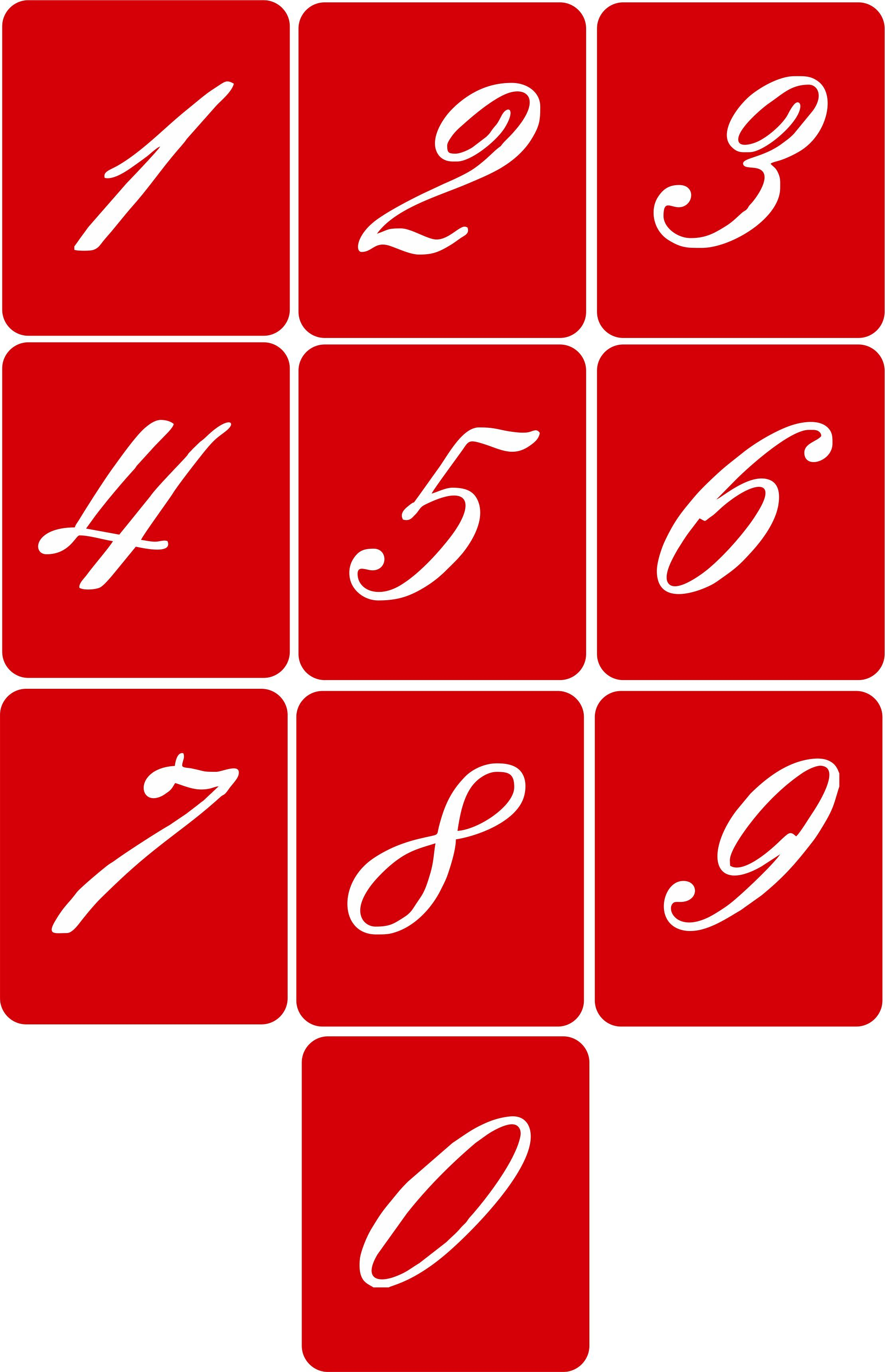 CODE A106. NAME Number Stencil (Embassy Font) SIZE 5cm