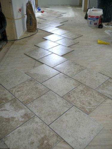 how to lay tile patterned floor tiles