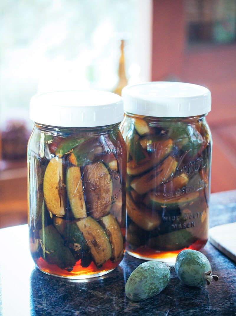 salty sweet pickled feijoas pears sweet and chinese