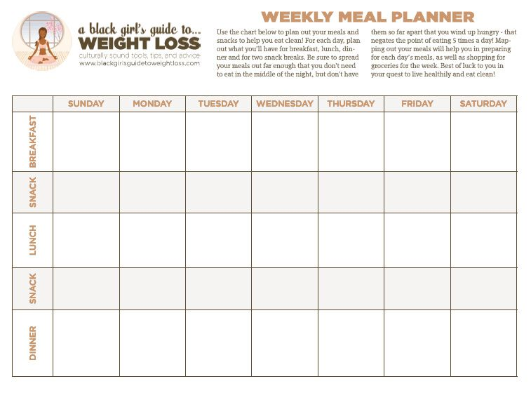 The Bgg2Wl Food Chart. I Love This Chart. It Helps Me Plan Out My