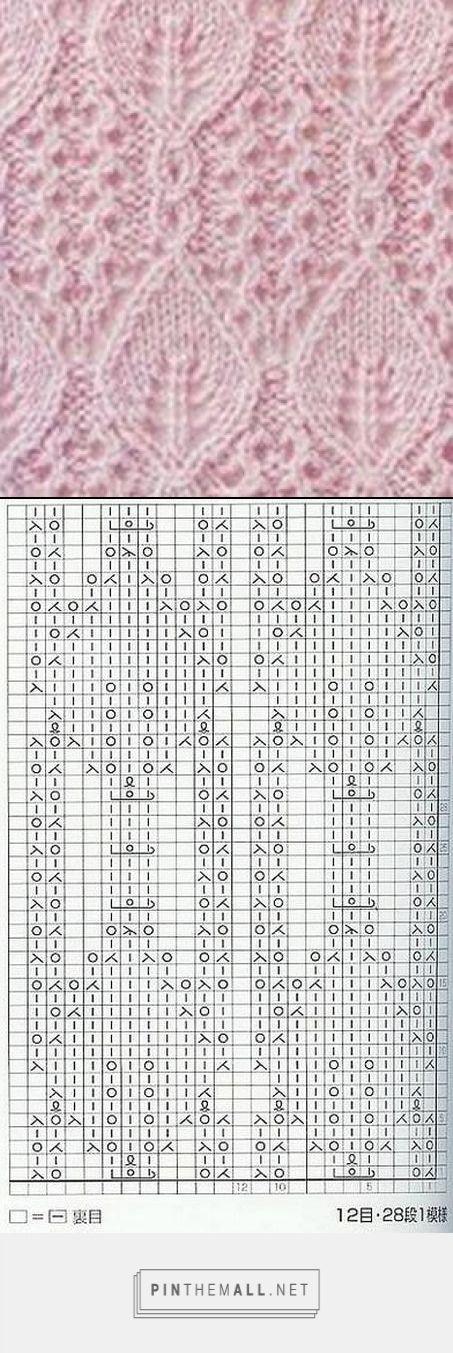 Lace knitting pattern ~~ | para tejer | Pinterest | Dos agujas ...