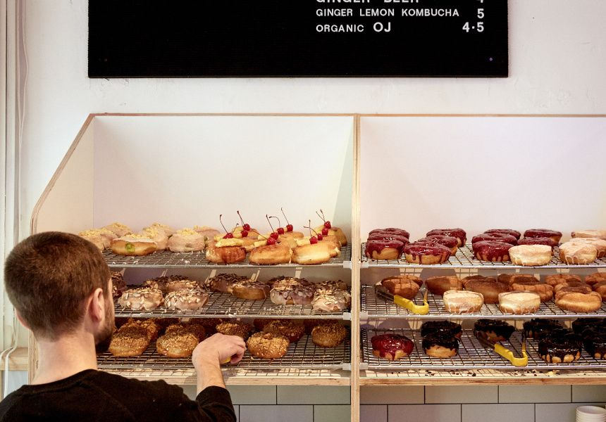 donut shop coffee u0026 donuts fitzroy cafe broadsheet melbourne broadsheet - Donut Shop Coffee