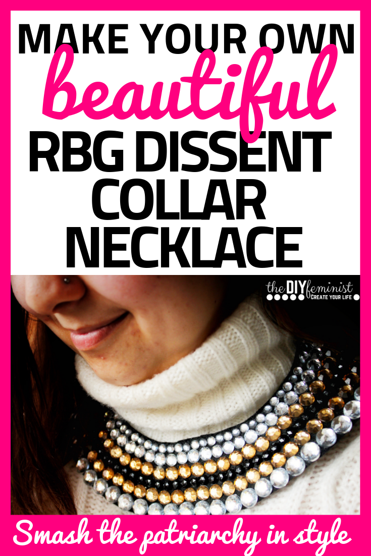 Make Your Own Stunning RBG Dissent Collar Necklace
