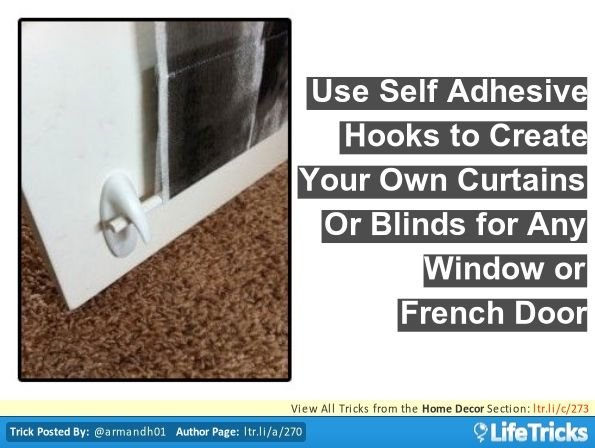 Home Decor Use Self Adhesive Hooks To Hang Blinds And Curtains