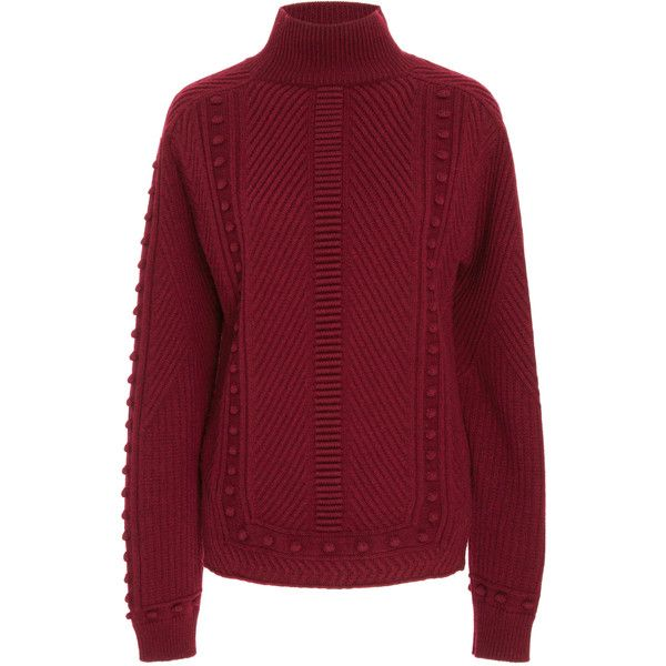 Carolina Herrera Wool And Cashmere Turtleneck Sweater (32,335 MXN ...