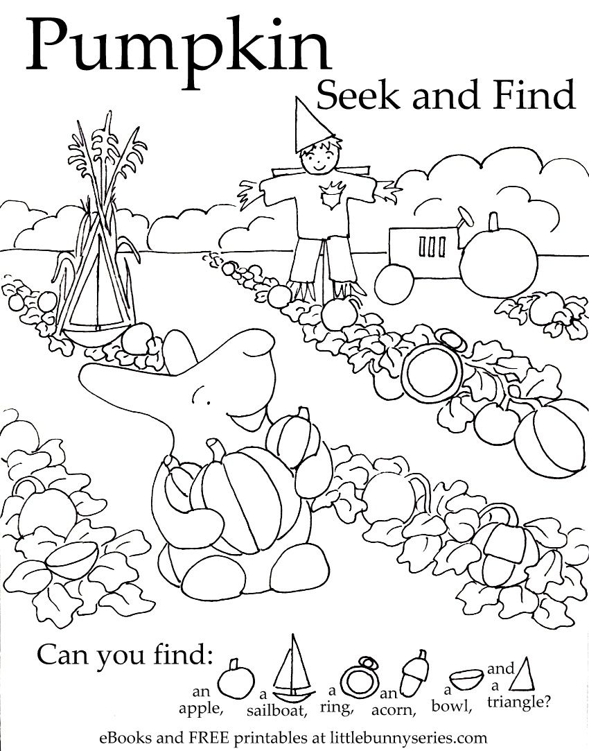 Pumpkin Seekand Find Pdf Kindergarten Hidden Pictures Hidden