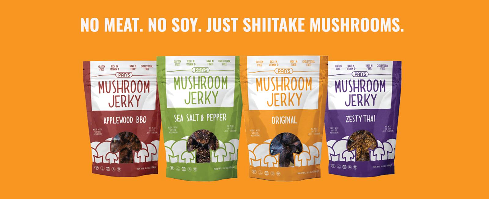 Vegan and Vegetarian Mushroom Jerky Pan's Mushroom Jerky