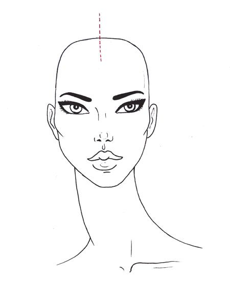 Drawing Hairlines : Draw curly hair for fashion sketches step