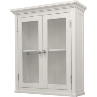 Classique White Wall Cabinet With Two Doors By Elegant Home