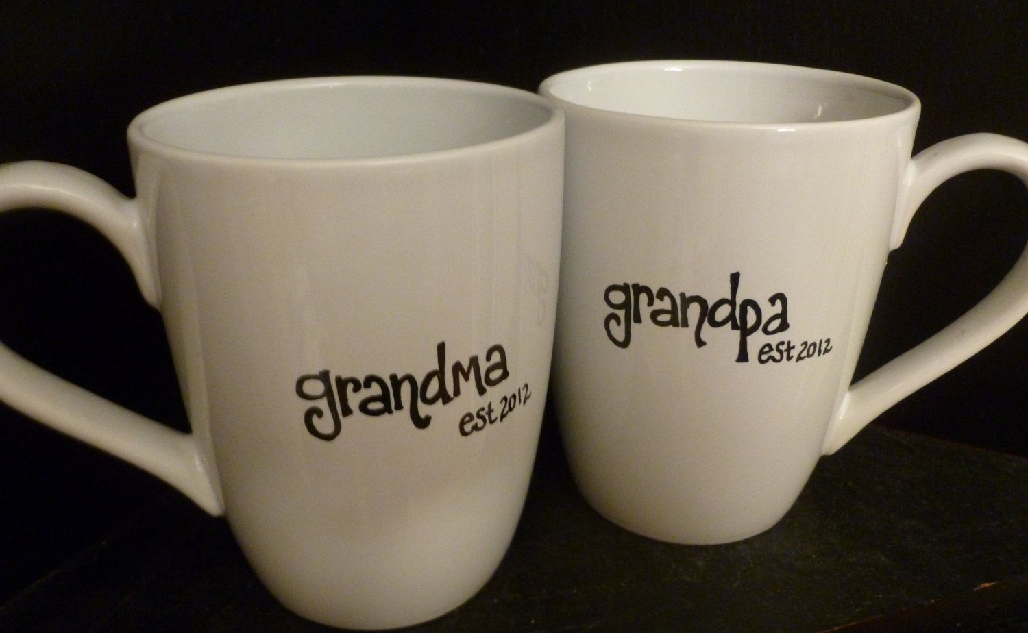 New GRANDMA or GRANDPA Mugs, Est. Year, Cute Pregnancy Announcement #newgrandma