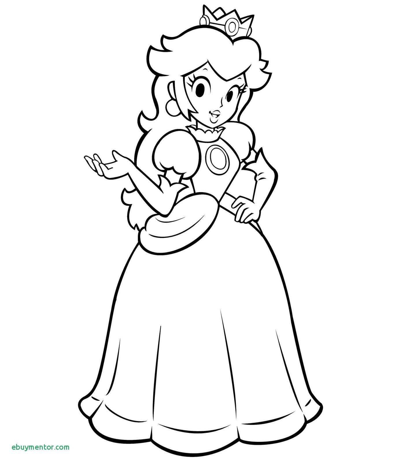 Princess Peach Coloring Pages Printable Mario Coloring Pages