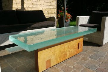 Thick Outside Glass Table Great Looking Outside Coffee Table