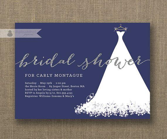 f951ec11ff9c854d201bbca994243feb silver glitter and navy modern bridal shower invitation with,Winter Wonderland Bridal Shower Invitations