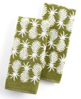Tommy Bahama Kitchen Towels Set Of 2 Pineapple Pop For