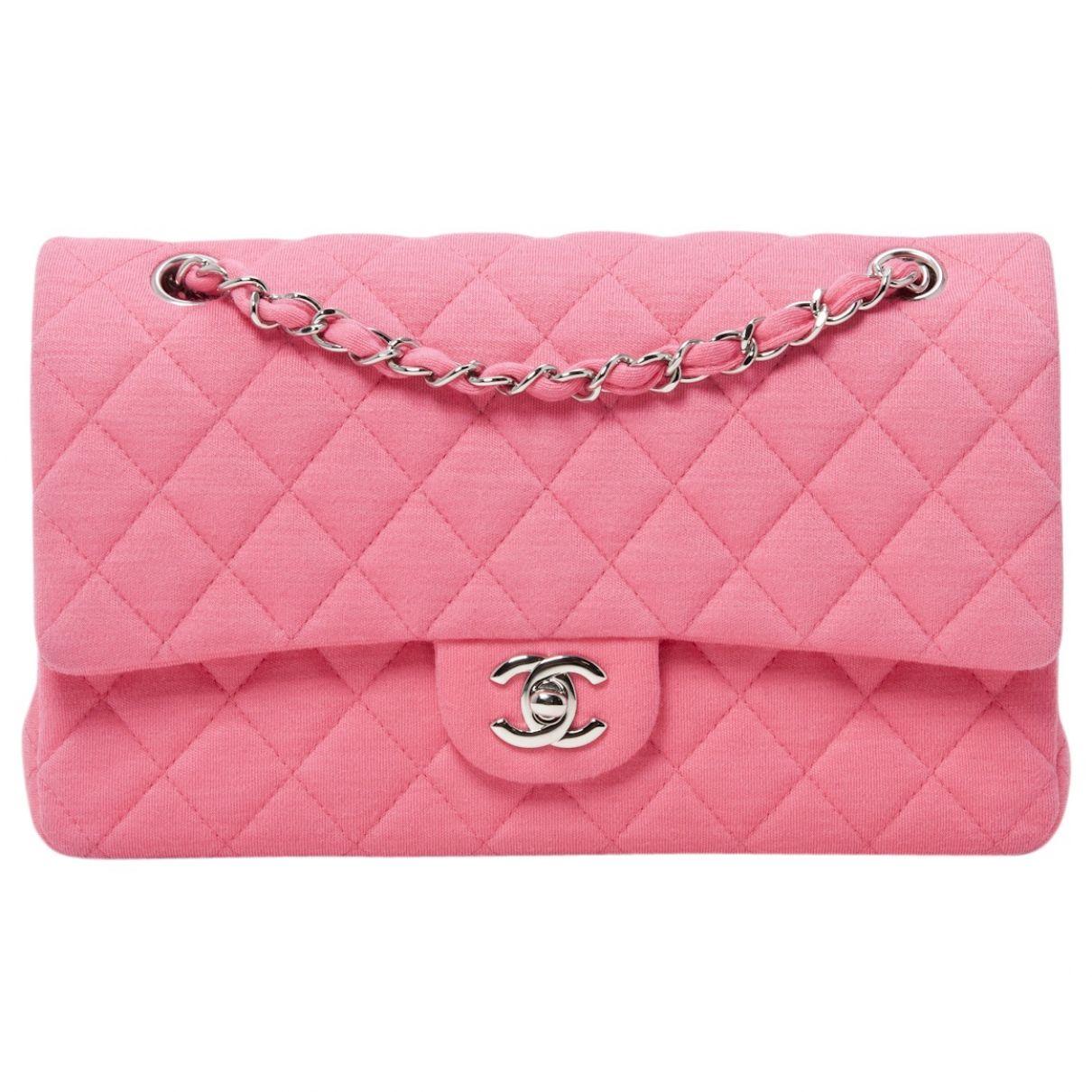 1fc18192f6dd CHANEL Pink Handbag Timeless | Vestiaire Collective | PINK | Pink ...