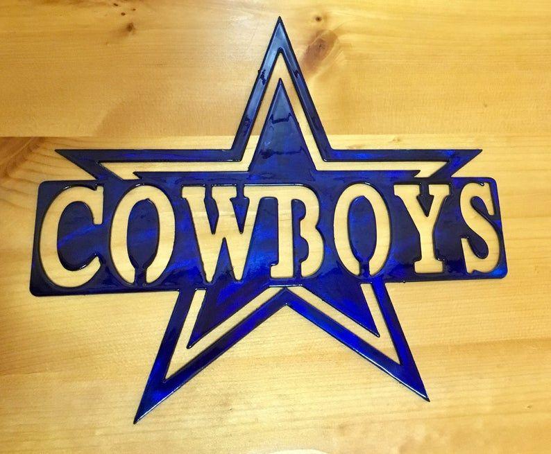 Aluminum dallas cowboys sign dallas cowboys football