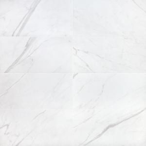 Ivy Hill Tile Essential Marble White 12 In X 24 In 10mm Matte Porcelain Floor And Wall Tile 8 Pieces 15 49 Sq Ft Box Ext3rd101148 The Home Depot Porcelain Flooring Ivy Hill Tile Porcelain Tile