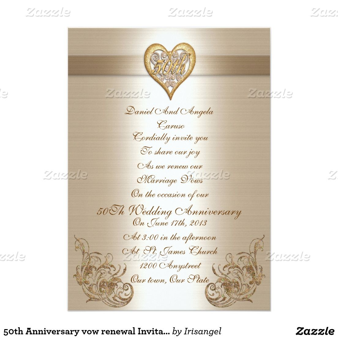 50th Anniversary vow renewal Invitation – Renewal of Vows Invitation Cards