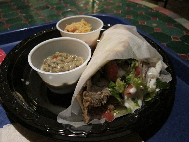 Lamb Mediterranean Wraps - served with Tangierine Couscous salad and Lentil salad @ Tangierine Cafe Morocco in Epcot