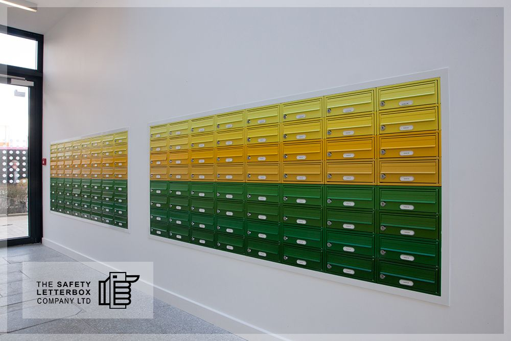 Colourful Student Mailboxes Print Works Project Ukhousing Mailboxes Design Safetyletterbox Com Mailbox Design Apartment Mailboxes Cluster Mailboxes