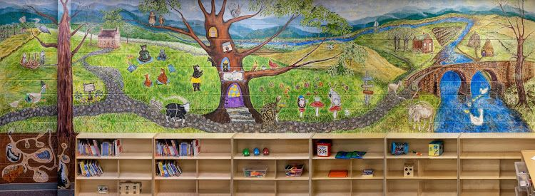 Central Library- Early Literacy Mural