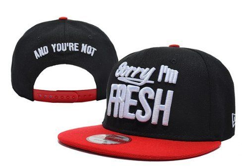 hip hop mens /& ladies flat peak baseball hats Sorry I/'m Fresh snapback caps