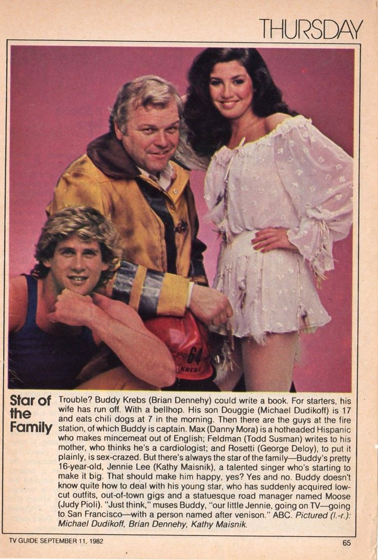 Star Of The Family Write-up From 1982 TV Guide Fall