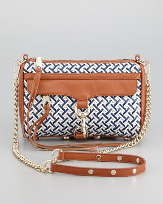 c0e5328cac83 Rebecca Minkoff Mini M.A.C. Woven Leather Crossbody Bag
