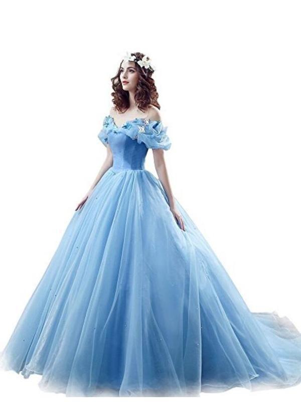 78e762c07b786 Popular Off Shoulder Blue A line Long Evening Prom Dresses, 17523 ...