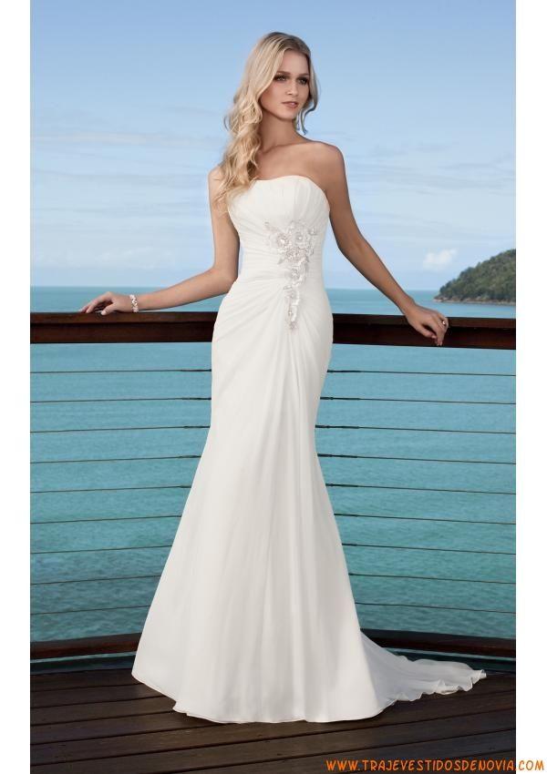 Vestidos de novias sencillos y elegantes 2013