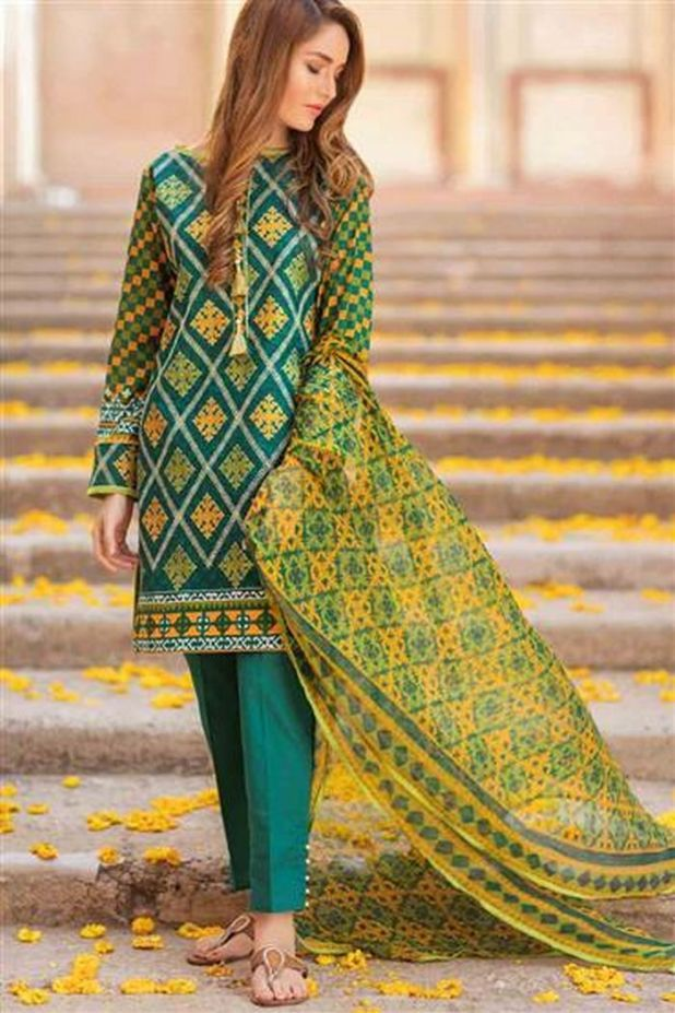 6b3846b663 Bonanza Satrangi Colors of Eid Collection Embroidered Dresses 2017 ...