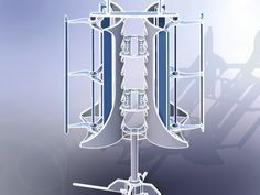 Vertical Axis Wind Turbine (VAWT) - SOLIDWORKS, STL, Other