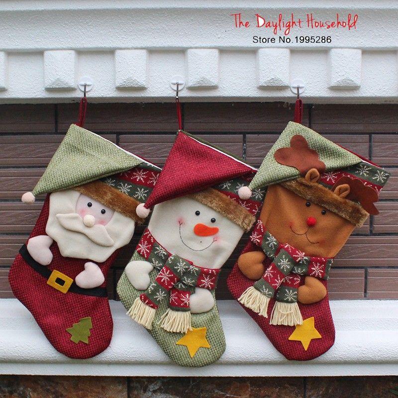 Comprar 45 cm lindo arte ropa calcetines - Calcetines de navidad personalizados ...