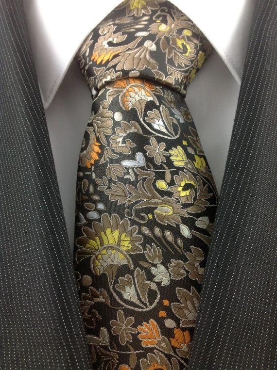 MultiColor Floral Necktie by TheNecktieShop on Etsy