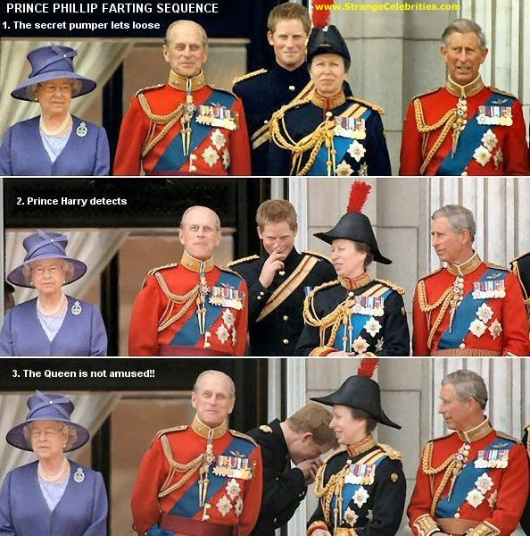 PRINCE PHILLIP FARTING SEQUENCE - QUEEN NOT AMUSED! | British royal family,  Royal, Royal family