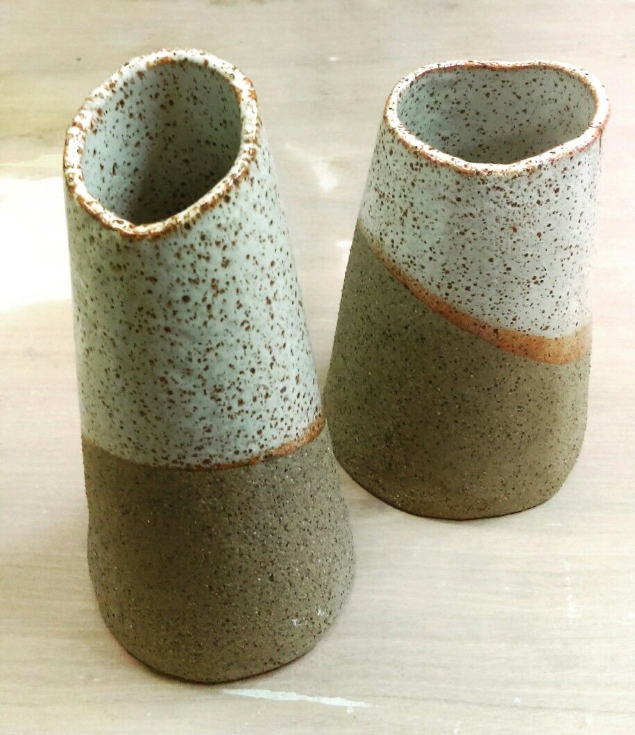 Beautiful ceramic vases made by a thursday night student