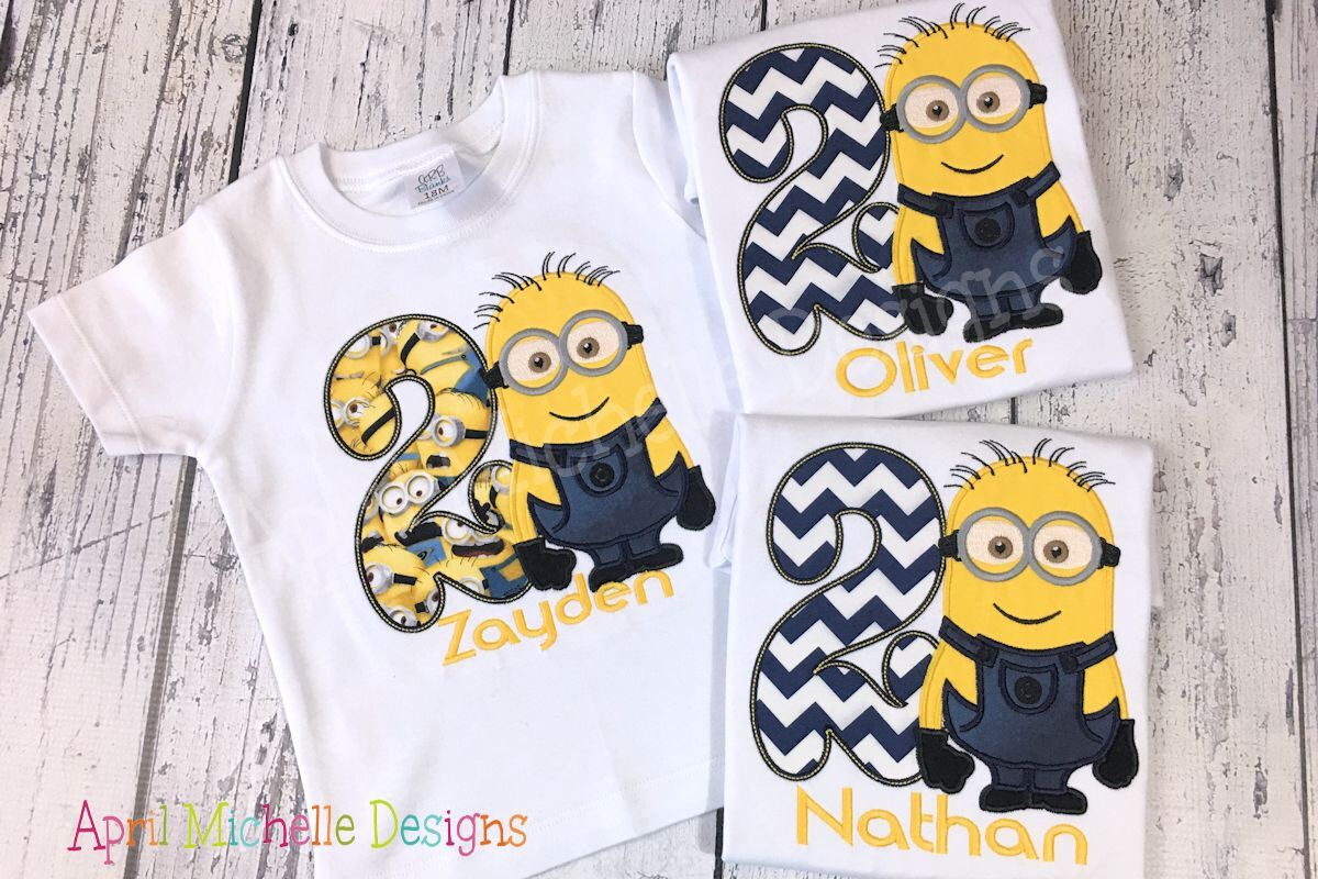 Minion Birthday Shirts For Toddlers