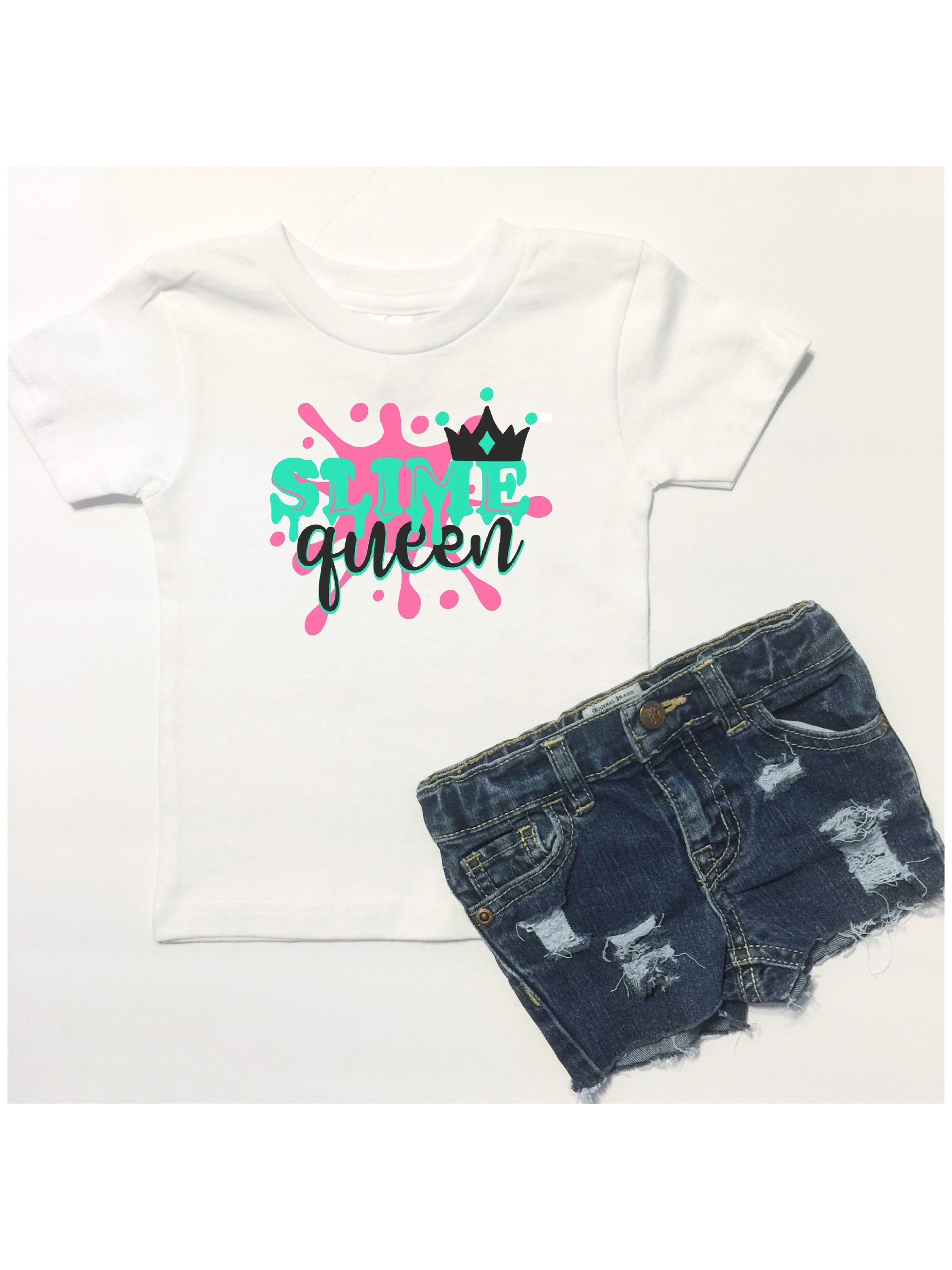 a6e9c82d0e001 Slime Queen, Girls Slime Shirt, Slime Birthday Party Outfit, Slime Tank Top,