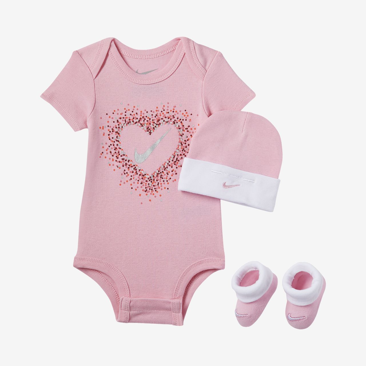 Nike Glitter Hearts Infant Toddler 3-Piece Set  a1a395bc9