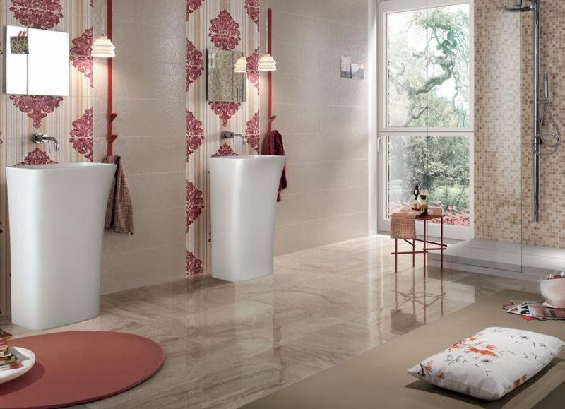 Schon Badgestaltung Mit Fliesen U2013 89 Der Schönsten Badfliesen Designs Aus Italien  #badezimmer #marmor #