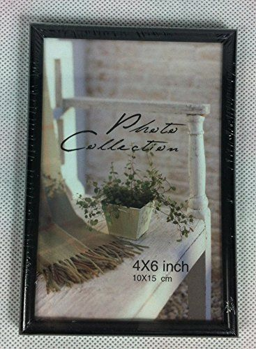 Deluxe Picture Frame (10cm x 15 cm) Black with Brown Stru... https ...