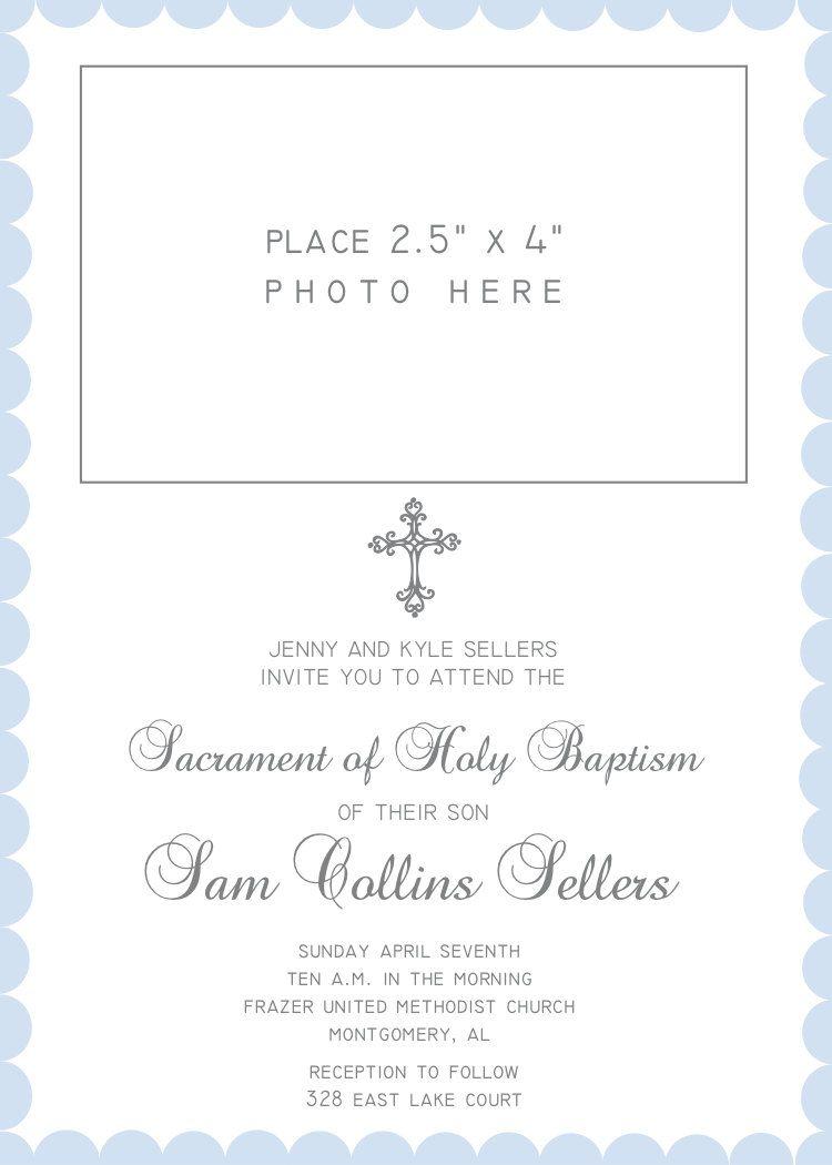 printable personalized christening invitation baptism baby girl