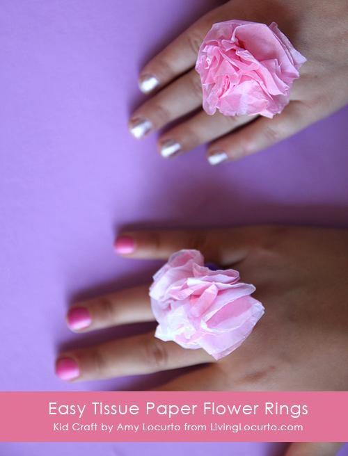Diy paper crafts diy easy tissue paper flower rings kids craft diy paper crafts diy easy tissue paper flower rings kids craft mightylinksfo