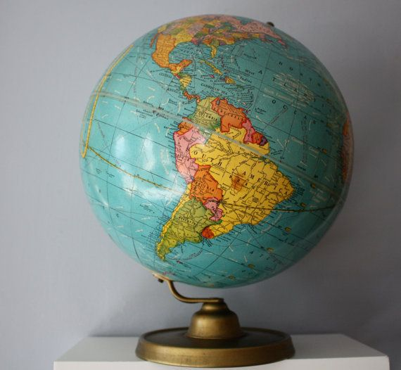Mid century crams world globe 10 12 c 1953 1957 map love map globe gumiabroncs Gallery