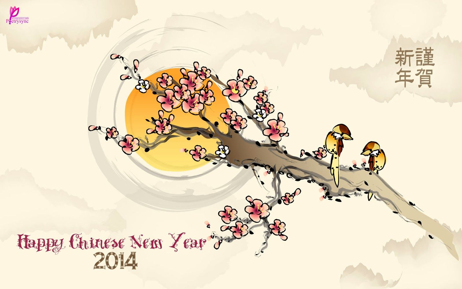 Happy Lunar New Year 2014 Happy Chinese New Year Tet New