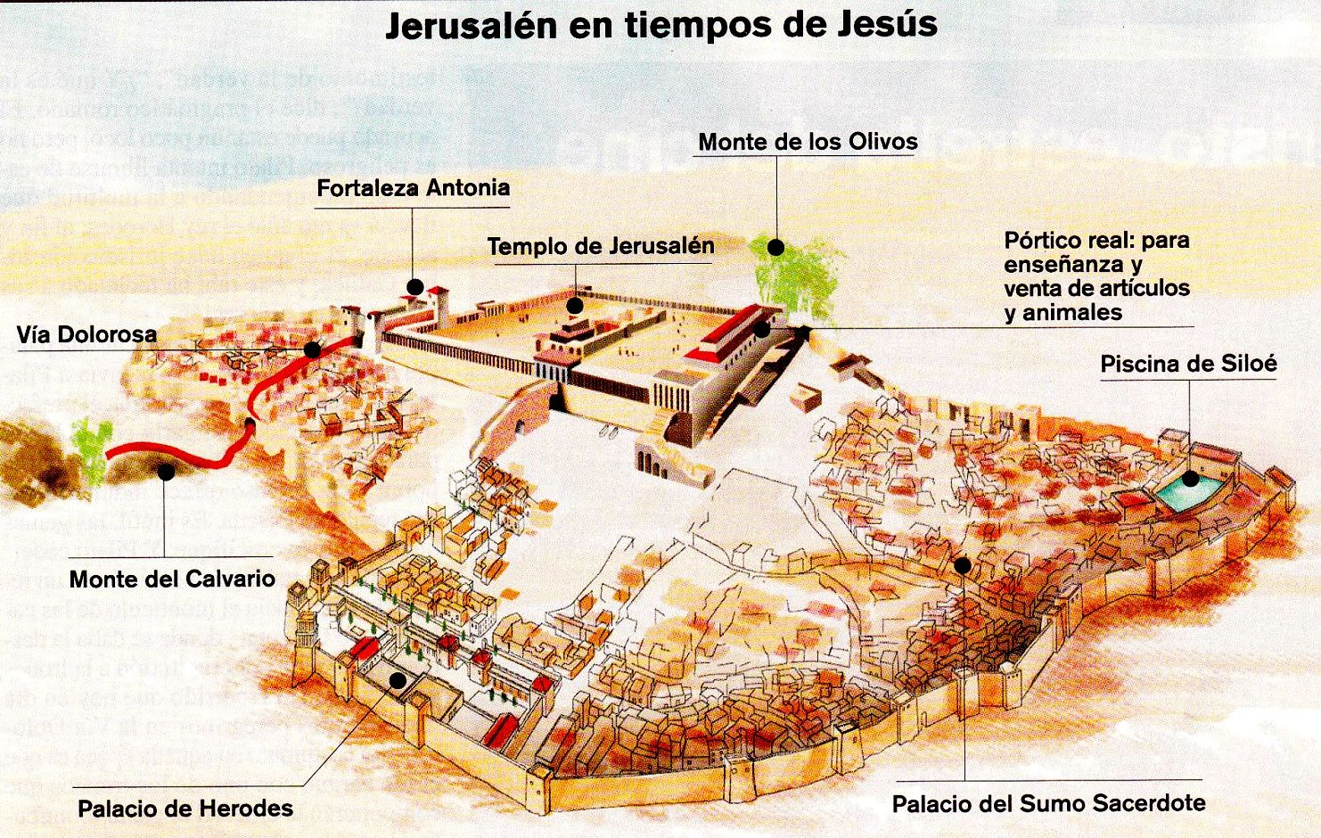 Los Lugares Por Los Que Transcurrió La Pasión De Jesús Geografía Infinita Geografia